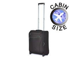Mała walizka MARCH 2080-39-52 ciemny brąz FRESCO
