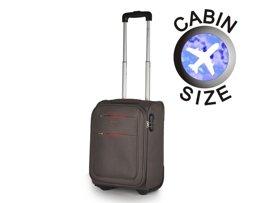 """Mała walizka """"MINI"""" PUCCINI EM-50307 D szara"""