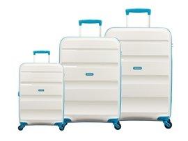 Zestaw trzech walizek AMERICAN TOURISTER 85A* biały