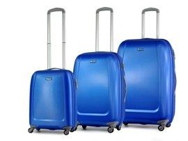 Zestaw trzech walizek PUCCINI ABS01 ABC niebieski