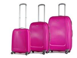 Zestaw trzech walizek PUCCINI ABS01 ABC różowy