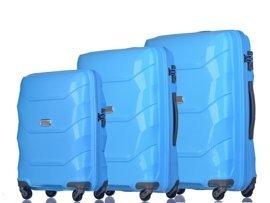 Zestaw trzech walizek PUCCINI PP011 ABC niebieski