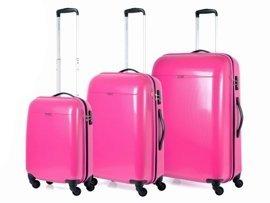 Zestaw walizek PUCCINI PC005 ABC różowy